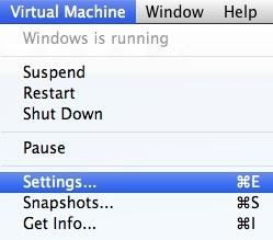 configuración de la máquina virtual