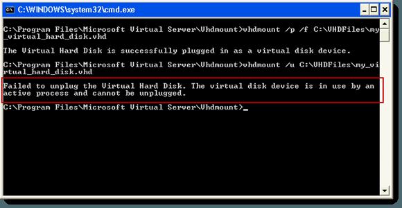 No se pudo desconectar el disco duro virtual