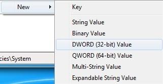 nueva clave de registro