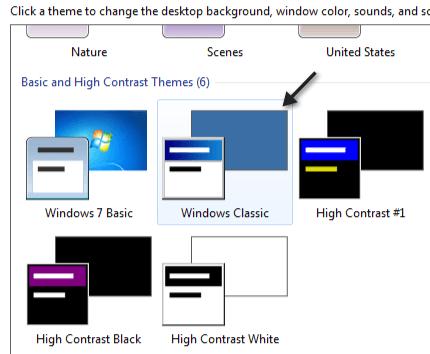 windows 7 clásico