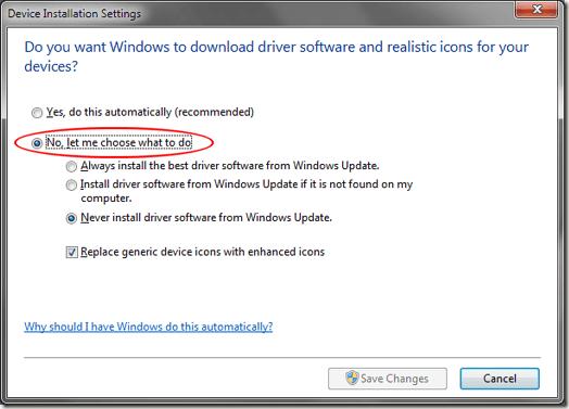 Windows 7 déjame elegir qué hacer